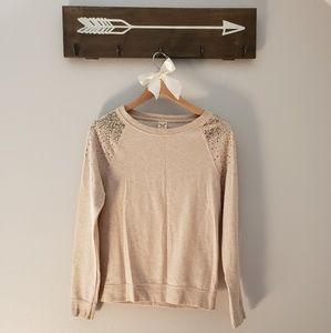 Faded Glory Sequin Shoulder Sweatshirt